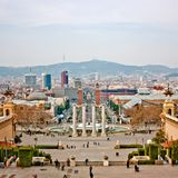 Ciudad de Barcelona Foto de archivo libre de regalías