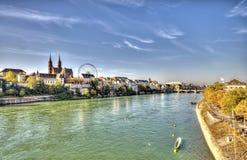 Ciudad de Basilea Fotografía de archivo libre de regalías