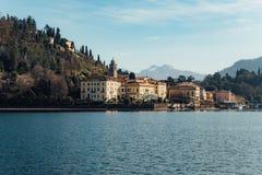 Ciudad de Bellagio en Italia Fotografía de archivo