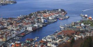 Ciudad de Bergen Foto de archivo libre de regalías