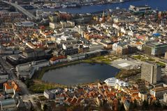 Ciudad de Bergen Imágenes de archivo libres de regalías