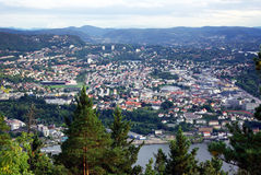 Ciudad de Bergen noruega Fotografía de archivo