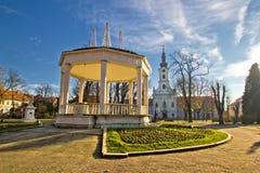 Ciudad de Bjelovar Central Park Imagen de archivo libre de regalías