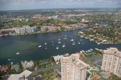 Ciudad de Boca Raton - bahía Foto de archivo libre de regalías