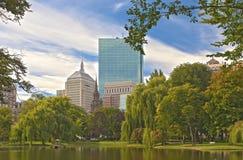 Ciudad de Boston Jardín público foto de archivo