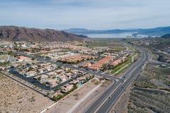 Ciudad de Boulder en Nevada, Estados Unidos imágenes de archivo libres de regalías