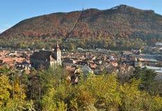 Ciudad de Brasov en la caída Fotografía de archivo
