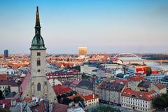 Ciudad de Bratislava Fotografía de archivo