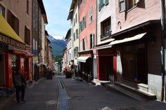 Ciudad de Briancon medieval fotografía de archivo