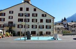 Ciudad de Briga en Suiza Foto de archivo libre de regalías