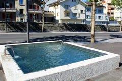 Ciudad de Briga en Suiza Imagen de archivo libre de regalías
