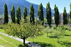 Ciudad de Briga en Suiza Fotografía de archivo