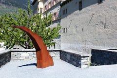 Ciudad de Briga en Suiza Foto de archivo