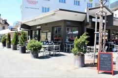 Ciudad de Briga en Suiza Imagenes de archivo