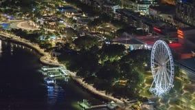 Ciudad de Brisbane en la noche fotografía de archivo libre de regalías