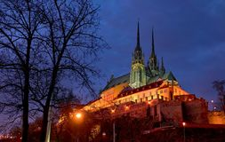 Ciudad de Brno, Petrov Foto de archivo