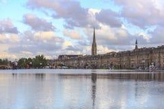 Ciudad de Burdeos imagen de archivo