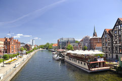 Ciudad de Bydgoszcz en Polonia. Imagen de archivo libre de regalías