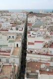 Ciudad de Cádiz Fotografía de archivo libre de regalías