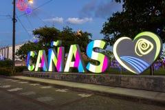 Ciudad de Cañas, Costa Rica Imagen de archivo libre de regalías