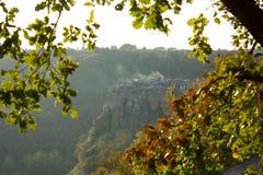 Ciudad de Calcata en Italia Foto de archivo libre de regalías