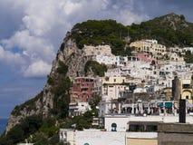 Ciudad de Capri en la isla de Capri fotografía de archivo