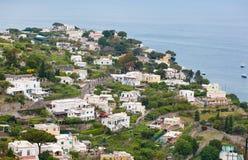 Ciudad de Capri en la isla de Capri, Campania, Italia Foto de archivo libre de regalías