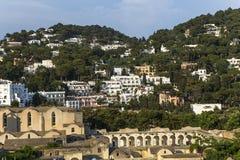 Ciudad de Capri, isla de Capri, Italia Fotografía de archivo