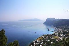 Ciudad de Capri, isla de Capri, Italia Fotos de archivo libres de regalías