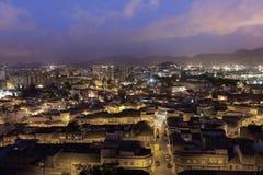 Ciudad de Cartagena en la noche, España Imagen de archivo