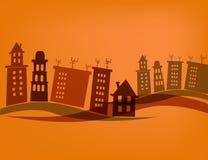 Ciudad de casas Imagen de archivo libre de regalías