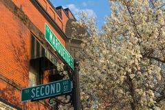Ciudad de Cercano oeste en primavera foto de archivo libre de regalías