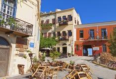 Ciudad de Chania en Grecia fotografía de archivo libre de regalías