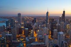 Ciudad de Chicago. imagen de archivo libre de regalías