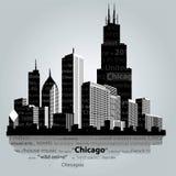 Ciudad de Chicago stock de ilustración