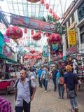 Ciudad de China en la calle de Petaling, Malasia Imagenes de archivo