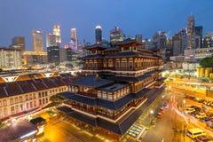 CIUDAD DE CHINA, SINGAPUR; 12 de junio de 2016: Templo de la reliquia de Buda Toothe fotografía de archivo libre de regalías
