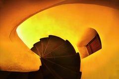 2016/06/18 ciudad de Chomutov, República Checa - escalera espiral histórica Fotografía de archivo
