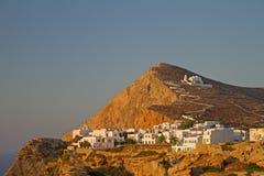 Ciudad de Chora, isla de Folegandros Foto de archivo libre de regalías