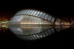 Ciudad de ciencias en Valencia, España Imagen de archivo