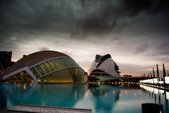 Ciudad de ciencias en Valencia, España Imágenes de archivo libres de regalías
