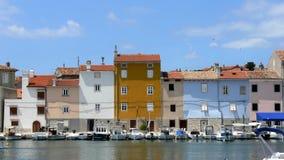 Ciudad de Cres en Croacia Imagenes de archivo