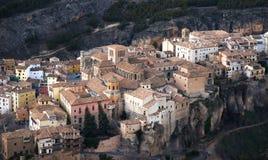 Ciudad de Cuenca en el distrito de Mancha del La en España central Fotos de archivo libres de regalías
