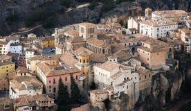 Ciudad de Cuenca en el distrito de Mancha del La en España central Fotografía de archivo libre de regalías