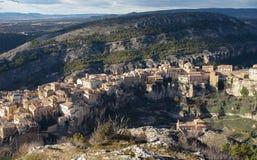 Ciudad de Cuenca en el distrito de Mancha del La en España central Foto de archivo libre de regalías