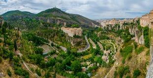 Ciudad de Cuenca, la Mancha, España de Castilla Foto de archivo