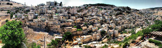 Ciudad de David Jerusalén, granangular Fotografía de archivo