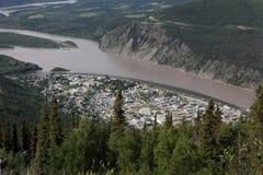 Ciudad de Dawson Imagen de archivo libre de regalías