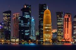 Ciudad de Doha, Qatar Foto de archivo