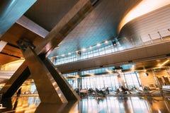 Ciudad de Doha, Qatar - 18 de diciembre de 2017: Interior del nuevo abierto Imágenes de archivo libres de regalías